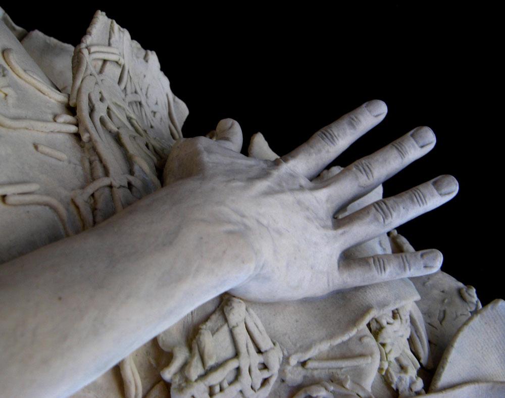 Daphne. Stoneware, acrylic. 2012. 25 x 9.5 x 9.75 inches.
